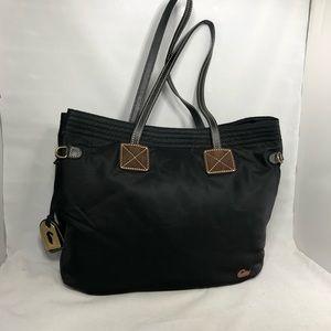 Dooney & Bourke black nylon Victoria tote bag